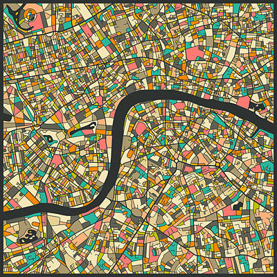 London Map Digital Art - London Map by Jazzberry Blue