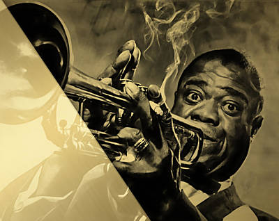 Mixed Media - Louis Armstrong Collection by Marvin Blaine