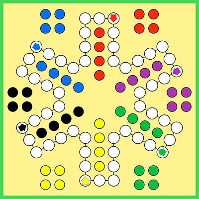 Ludo Board Game Art Print