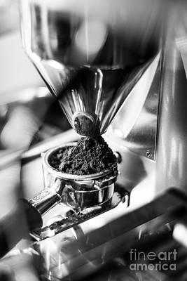Thomas Kinkade - Making Espresso Coffee Close Up Detail With Modern Machine by JM Travel Photography