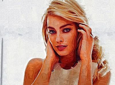 Doppelganger Digital Art - Margot Robbie by Best Actors