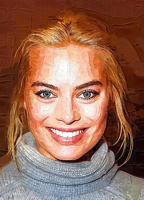 Doppelganger Digital Art - Margot Robbie Print by Best Actors
