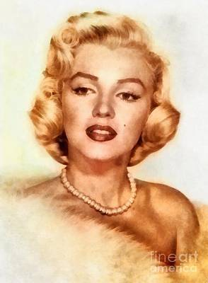 Actors Royalty-Free and Rights-Managed Images - Marilyn Monroe, Vintage Hollywood Actress by Frank Falcon