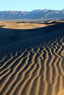 Mountain Photograph - Mesquite Sand Dunes In Death Valley National Park by Pierre Leclerc Photography