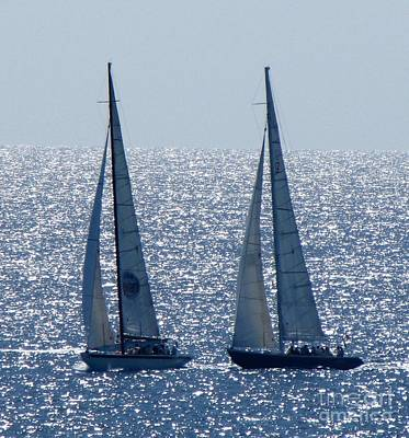 Photograph - 12 Meter Yachts by Neil Zimmerman