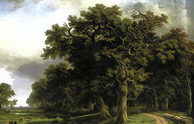 Nature Painting - Nature Landscape Graphics by Edna Wallen