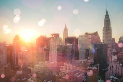 Nyc Rooftop Photograph - New York City by Vivienne Gucwa