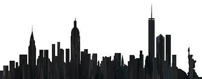 New York New York Skyline  Art Print by Marlene Watson