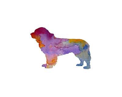 Newfie Painting - Newfoundland Dog by Steph J Marten