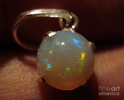 Studio Graphika Literature - Opal Silver Pendant by Neon Flash