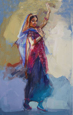 South East Asian Art Painting - 12 Pakistan Folk Punjab by Maryam Mughal