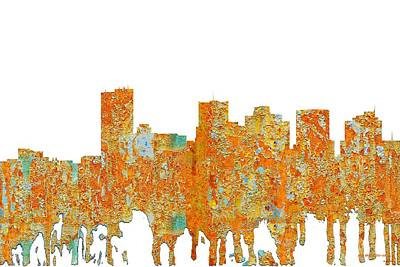Digital Art - Phoenix Arizona Skyline by Marlene Watson