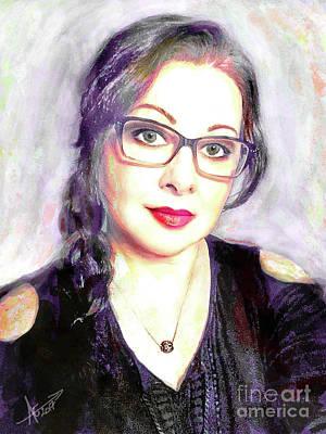 Digital Art - Portrait by Afrodita Ellerman