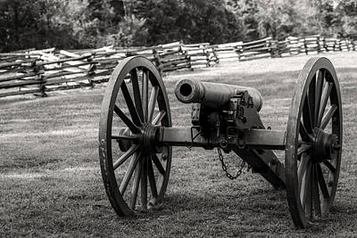 Photograph - 12 Pounder Napoleon Bw by James Barber