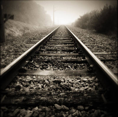 Railroad Tracks Photograph - Railway Tracks by Les Cunliffe