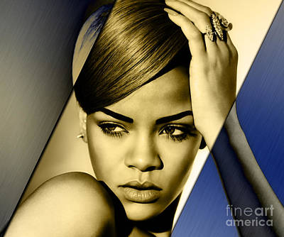 Rap Mixed Media - Rihanna Collection by Marvin Blaine