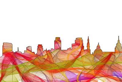 Digital Art - Sacramento California Skyline by Marlene Watson