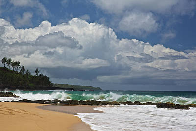 Photograph - Secret Beach Kauai by Steven Lapkin
