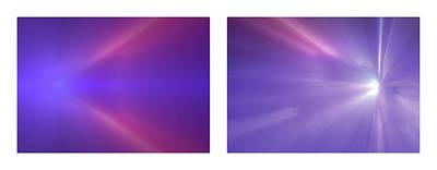 Abstract Lightart Photograph - 12 Shineonucrazydiamond Diptych 12 by David Hargreaves