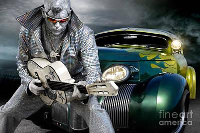 Silver Elvis Art Print by Oleksiy Maksymenko