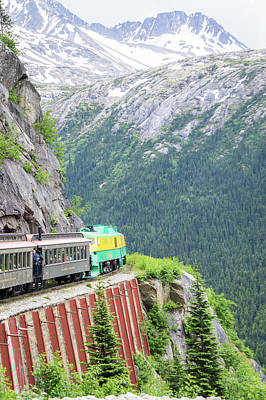 Photograph - Skagway, Alaska, Usa - June 2017 - Alaskan Canadian White Pass T by Alex Grichenko