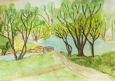 Painting - Summer Landscape, Painting by Irina Afonskaya