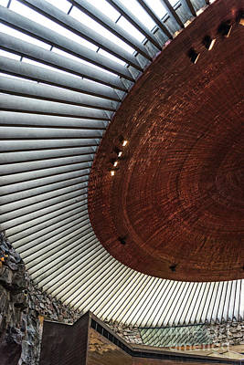 Photograph - Temppeliaukio Rock Church Famous Landmark Interior In Helsinki F by Jacek Malipan