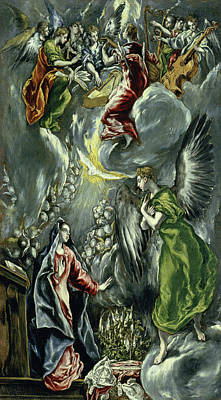 Virgin Mary Painting - The Annunciation by El Greco