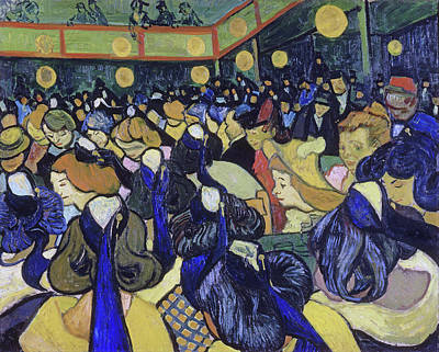 Painting - The Dance Hall In Arles by Vincent van Gogh