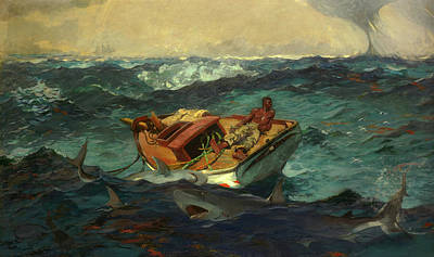 Negro Painting - The Gulf Stream by Winslow Homer