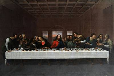 Da Vinci Painting - The Last Supper by MotionAge Designs