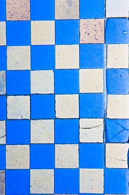 Chequered Photograph - Tiles by Tom Gowanlock