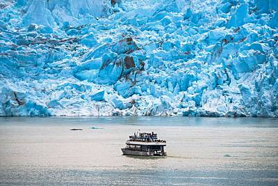 Photograph - Tracy Arm Fjord Sawyer Glacier by Alex Grichenko