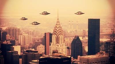 Ufo Sighting Art Print by Raphael Terra