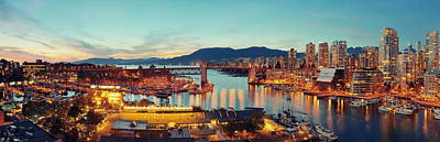 Photograph - Vancouver Harbor View  by Songquan Deng
