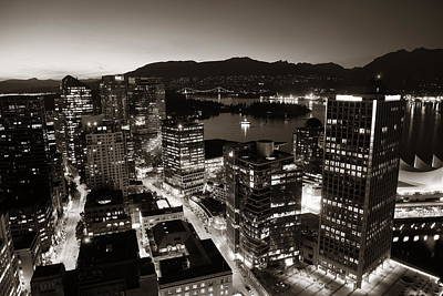 Photograph - Vancouver Rooftop View by Songquan Deng
