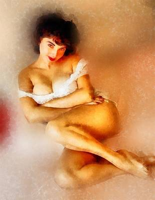 Vintage Pinup By Frank Falcon Art Print by Frank Falcon