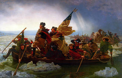 Cold War Painting - Washington Crossing The Delaware by Emanuel Leutze