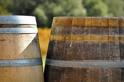 Wine Cellar Photograph - Wine Barrel by Brandon Bourdages
