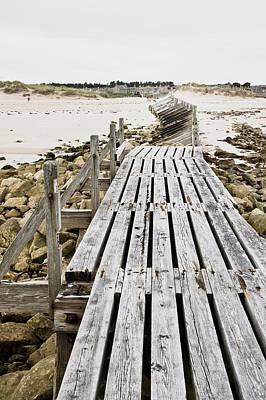 Rustic Scenes Photograph - Wooden Walkway by Tom Gowanlock