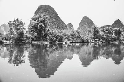 Photograph - Yulong River Scenery by Carl Ning