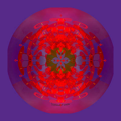 Painting - 1217 -   Mandala Red 2017 by Irmgard Schoendorf Welch
