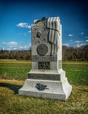 121st Pennsylvania Infantry Monument Art Print by Nick Zelinsky