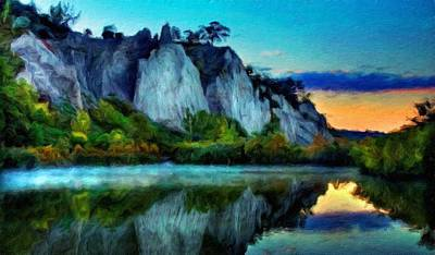 Nature Painting - Painting Landscape by Margaret J Rocha