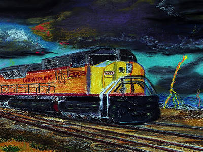Painting - 122415 East Bound by Garland Oldham