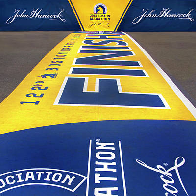 Photograph - 122nd Boston Marathon Finish Line by Joann Vitali