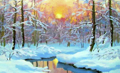 Sun Painting - Nature Landscape Paintings by Edna Wallen