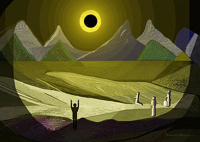 Painting - 1234 - Eclipse ... by Irmgard Schoendorf Welch