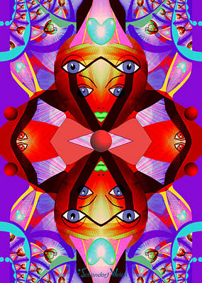 Painting - 1239 - Kaleidoscope ... by Irmgard Schoendorf Welch