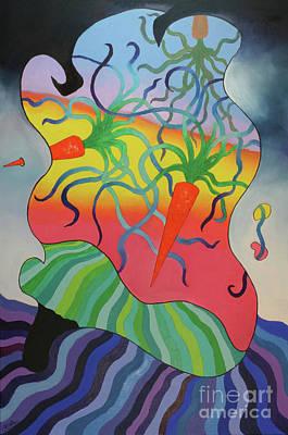 Carrot Mixed Media - 124 - Three Carrots by James D Waller